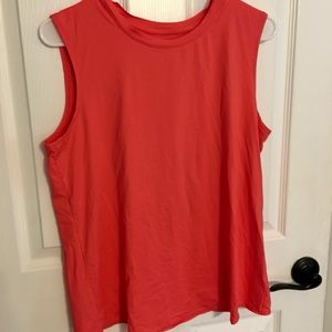 Athleta Sunlover tank Coral flash tulip back M